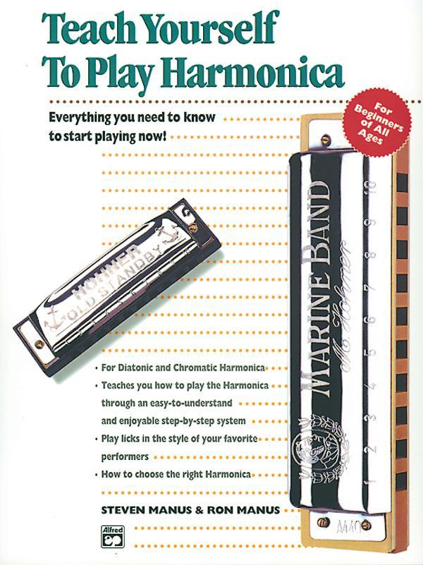 Alfred's Teach Yourself to Play Harmonica (Book & Enhanced CD)