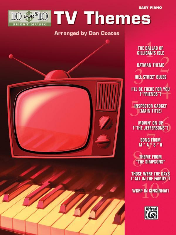 10 for 10 Sheet Music: TV Themes