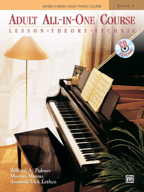 Alfred's Basic Adult All-in-One Course, Book 1 (Piano Comb Bound Book & CD)