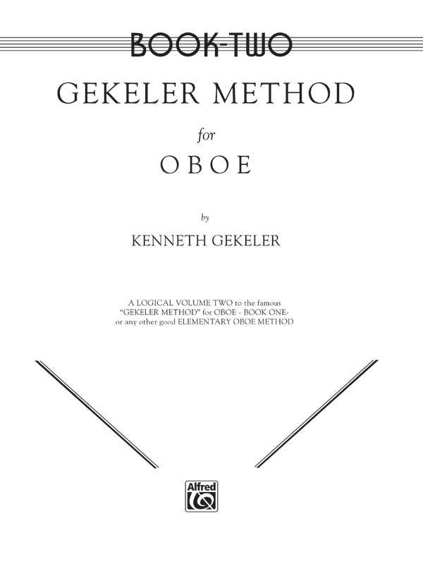 Gekeler Method for Oboe, Book II