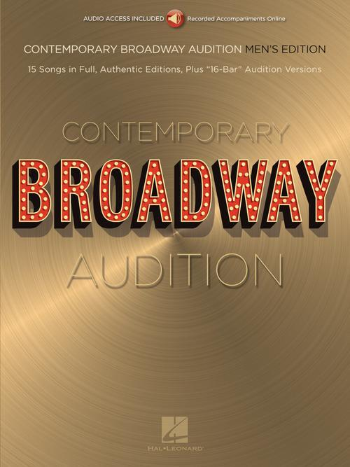 Contemporary Broadway Audition: Men's Edition - Book/Online Audio