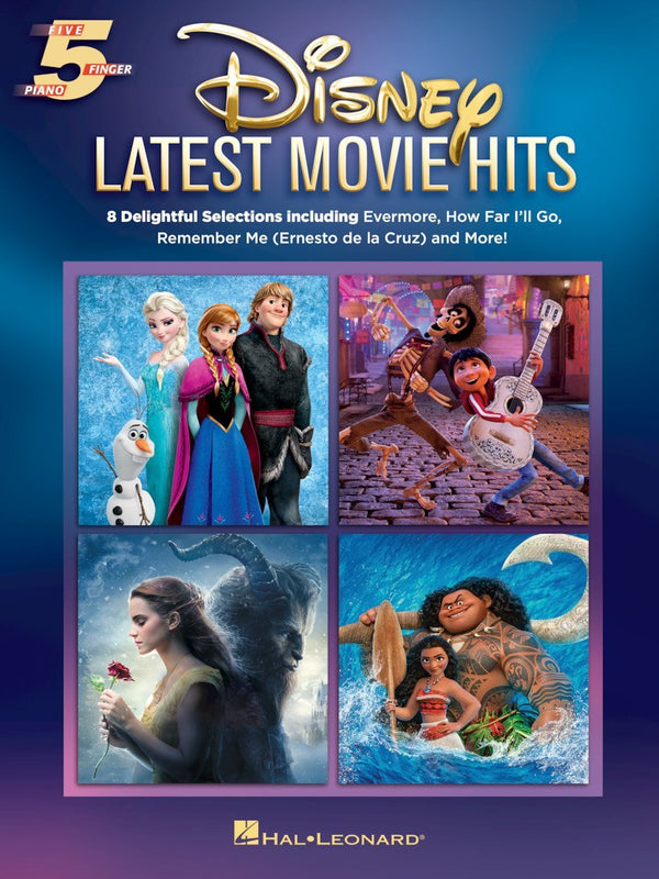 Disney Latest Movie Hits (Five Finger Piano Songbook)