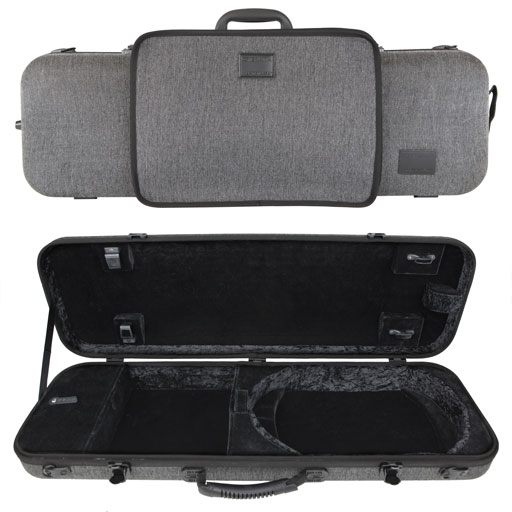 Gewa Bio-S Oblong Violin Case with Music Pocket - Grey