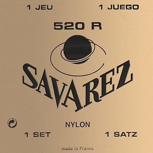 Savarez 520R Traditional Classical Guitar Strings, Normal Tension