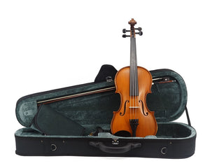 Kato 300 Violin Outfit including case, bow and violin front view - All Sizes