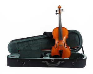 Kato 500 Violin Outfit including case, bow and violin from the front - All Sizes