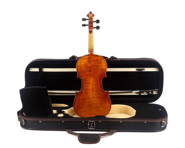 La Vista Better Student Model 50 Violin Outfit including case, bow and full-size violin, back view