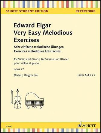 Very Easy Melodious Exercises Op. 22 for Violin and Piano