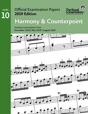 RCM 2019 Official Examination Papers: Level 10 Harmony & Counterpoint