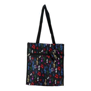 Tote Bag - Coloured Symbols (Satin Black)