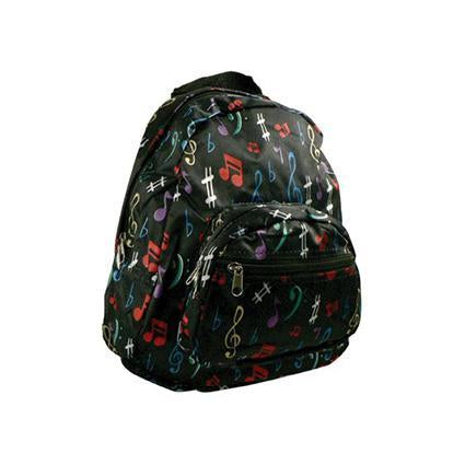 Coloured Notes Backpack - Black