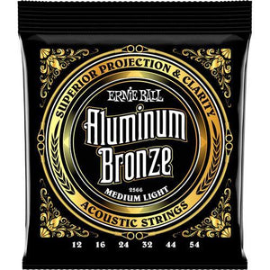 Ernie Ball P02566 Aluminum Bronze Acoustic Guitar Strings - Medium Light