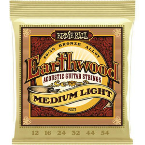 Ernie Ball P02003 Earthwood Medium Light Acoustic Guitar Strings