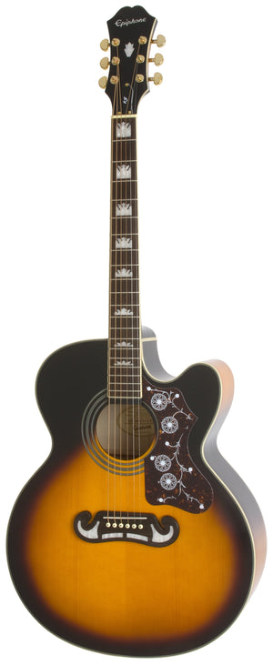 Epiphone EJ-200CE Acoustic Electric Guitar in Vintage Sunburst