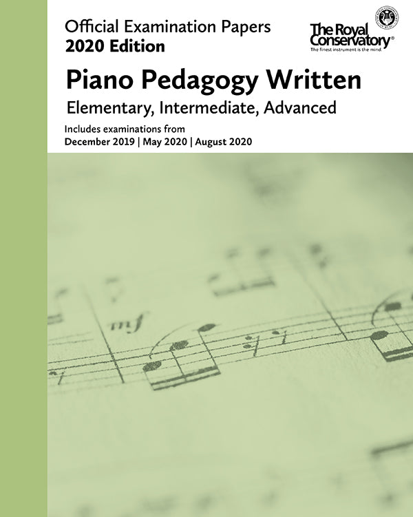 RCM 2020 Official Examination Papers: Piano Pedagogy Written