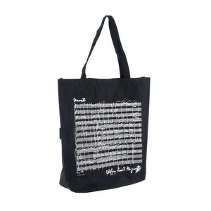 Tote Bag with Various Composers - Large (Black)