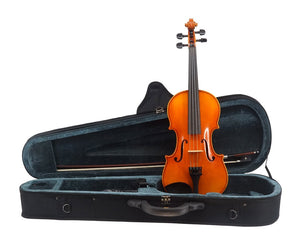 La Vista Model 100 Violin Outfit including case, bow and full-size violin, front view