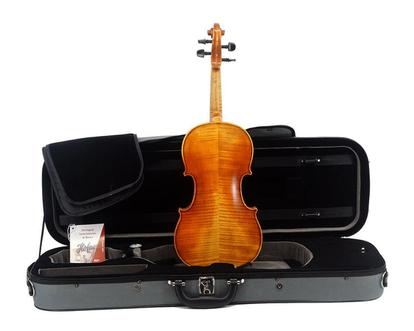 "Karl Höfner H11E ""Presto"" Violin Outfit including case, bow and violin from the back"