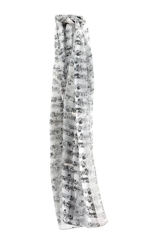 Sheet Music Shawl - White