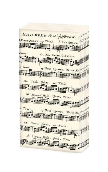 Adagio Sheet Music Tissues - 10 Sheets