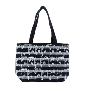 Tote Bag - Small Canvas Manuscript (Black)