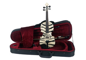 Kato 500 Hand-painted Zebra Violin Outfit