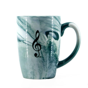 Mug - Marbelized Treble Clef (Green)