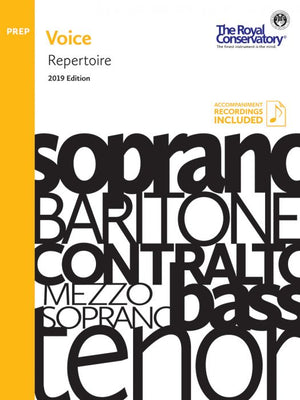 RCM - Voice Repertoire Preparatory, 2019