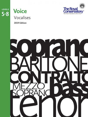 RCM - Voice Vocalises Levels 5-8, 2019