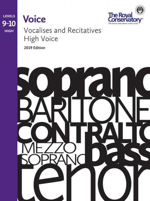 RCM - Voice Vocalises and Recitatives Levels 9-10: High Voice, 2019