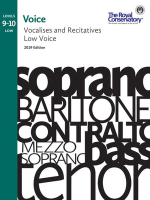 RCM - Voice Vocalises and Recitatives Levels 9-10: Low Voice, 2019
