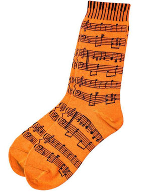 Socks - Orange with Score