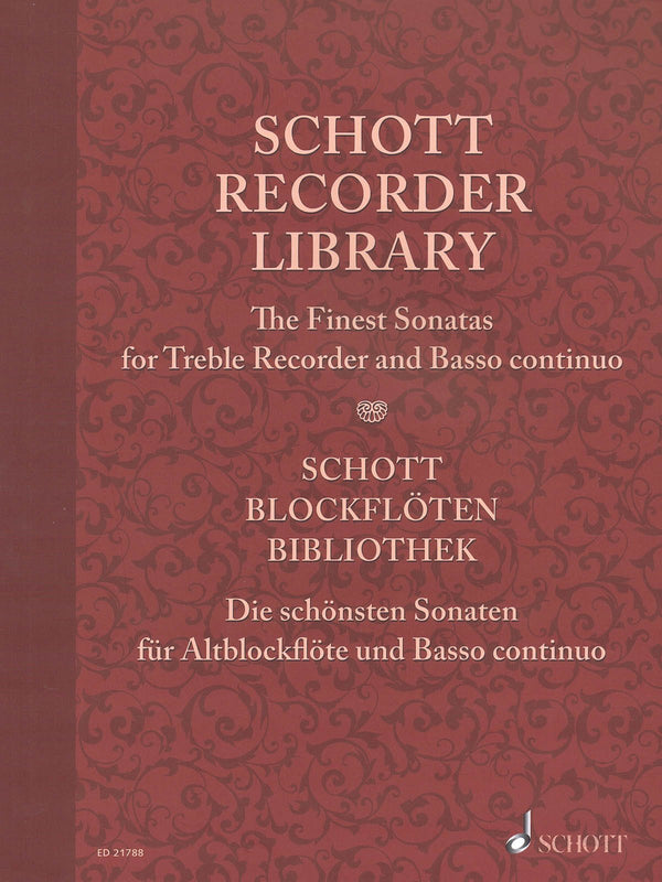 Schott Recorder Library (for Treble Recorder and Basso continuo)