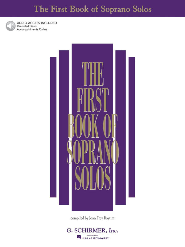 The First Book of Soprano Solos - Book/Online Audio