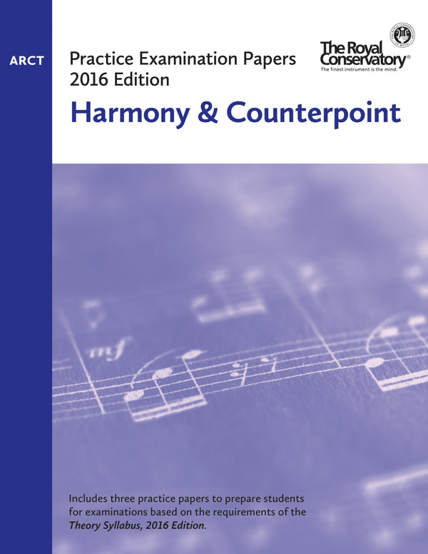 RCM ARCT Harmony & Counterpoint (2016 Edition)