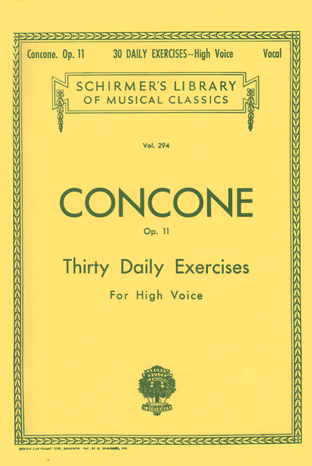 30 Daily Exercises, Op. 11 – High Voice