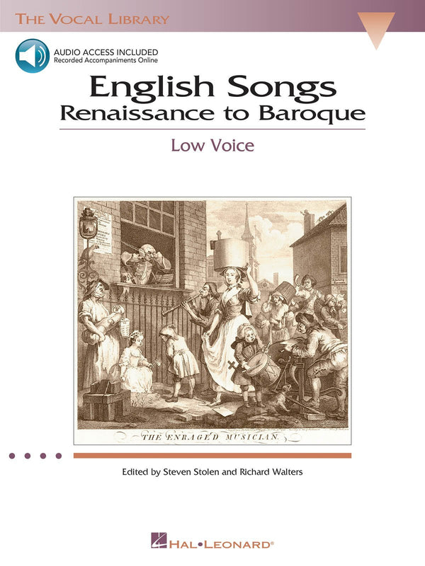 English Songs: Renaissance to Baroque (Low Voice with Online Audio)