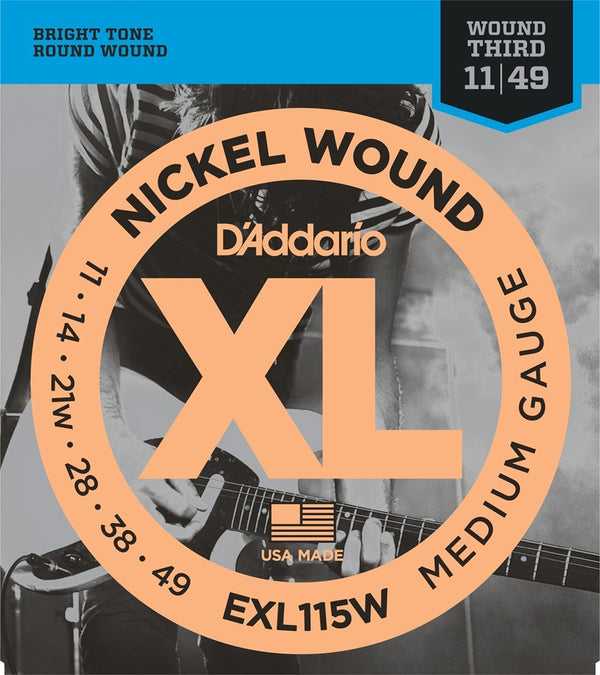 D'Addario EXL115W - Nickel Wound BLUES/JAZZ ROCK /WND 3 11-49