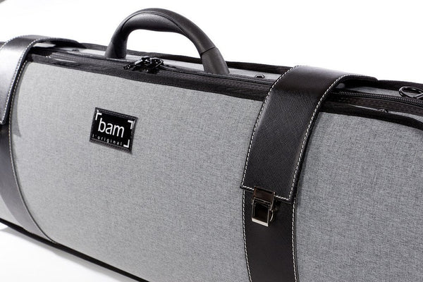 Bam Hightech Oblong Violin Case Gray Flannel