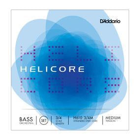 D'Addario Helicore Hybrid Bass String Set, 3/4 Scale