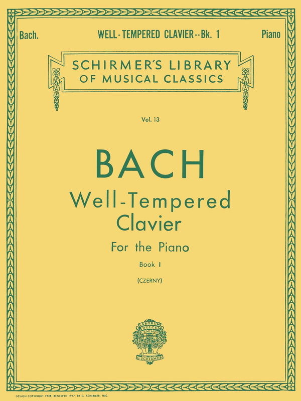 Well Tempered Clavier - Book 1