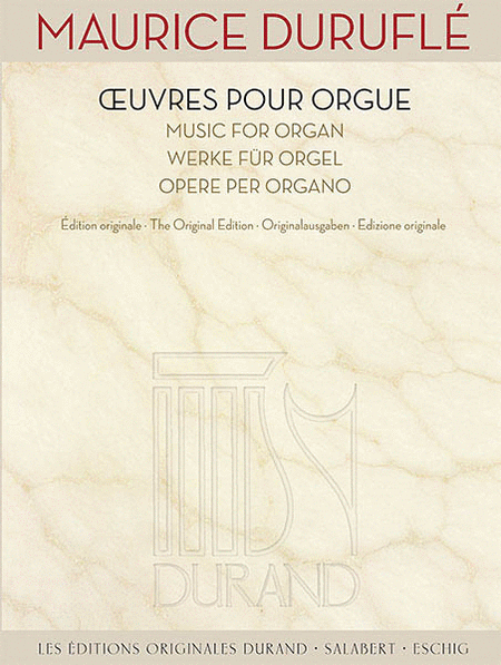 Music for Organ [Oeuvres pour Orgue)