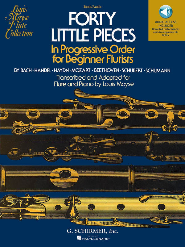 Forty Little Pieces in Progressive Order for Beginner Flutists (with Online Audio)
