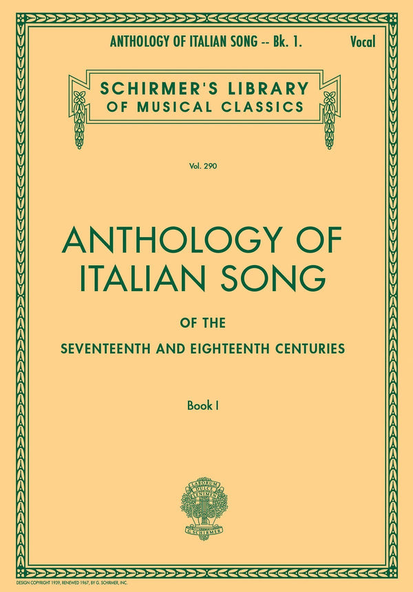 Anthology of Italian Song of the 17th and 18th Centuries – Book I