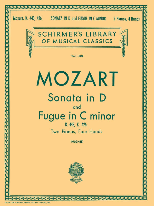 Sonata in D (K.448); Fugue in C Minor (K.426)