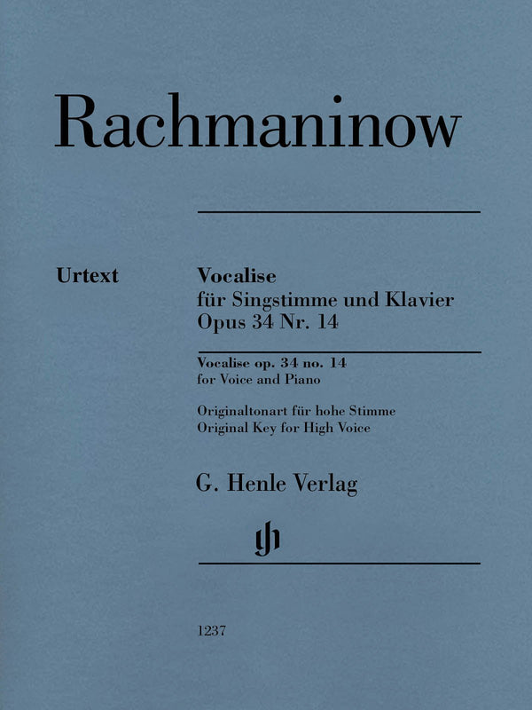 Rachmaninoff - Vocalise Op. 34 No. 14 for Voice and Piano