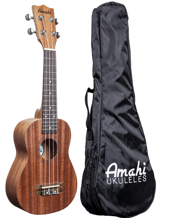 Amahi UK120S Mahogany Ukulele with Bag