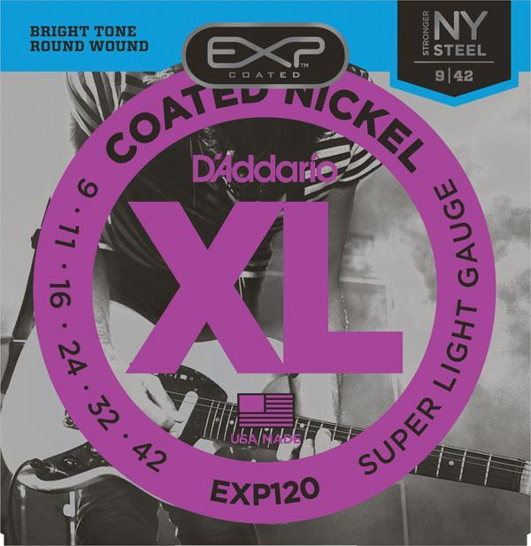 D'Addario EXP120 Coated Nickel Wound, Super Light, 9-42