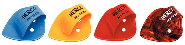 Herco HE112 Flat Thumbpicks, Medium