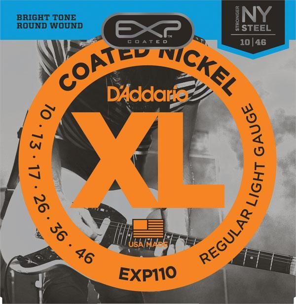 D'Addario EXP110 Coated Nickel Wound, Light, 10-46